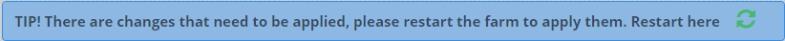 Odoo restart service