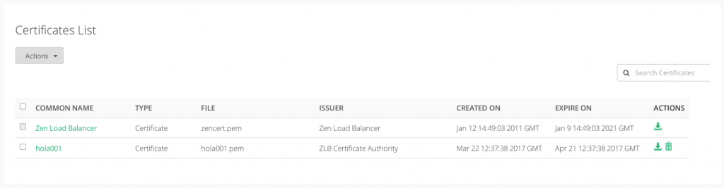 manage lslb ssl certificates