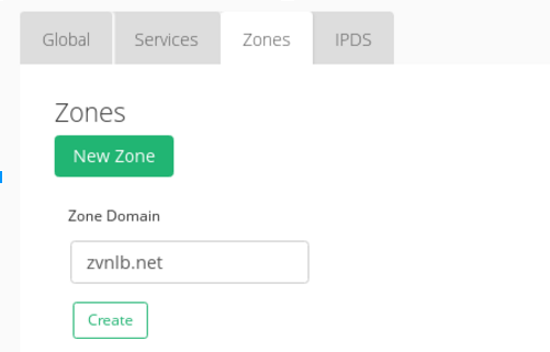 Create a GSLB zone in the first data center