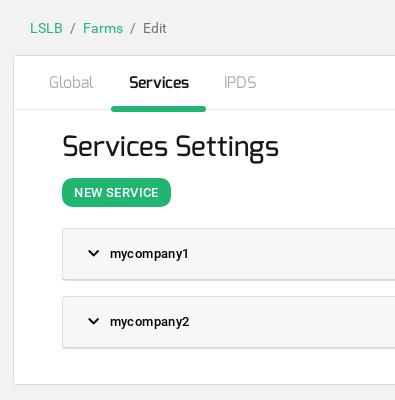 Zevenet Create Service HTTP