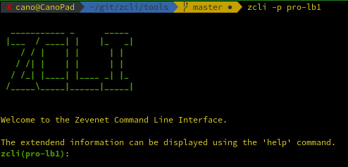 ZEVENET zcli interactive mode with profile